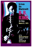 Plakát BB King, Detroit 1975