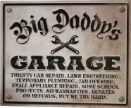 Cedule Big Daddys Garage